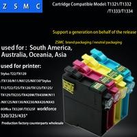 10pcs Compatible epson 132 133 ink cartridge T1321 T1322 T1323 T1324 for Stylus T22/TX120/TX130/N11/NX125/NX130 printer