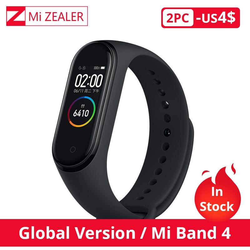 In Stock Xiaomi Mi Band 4 Global Version Multi language Wristband Bracelet 135mAh Bluetooth 5