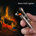 Free Shipping Torch Lighter Survival Tool Outdoor camping fire source windproof fluff lighter Million Matches Flint Fire Starter