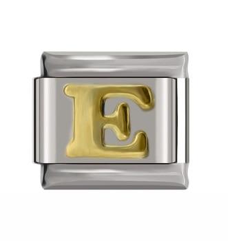 Hapiship Original Daisy Gold 26 Letters A-Z Italian Charm Fit Bracelet Stainless Steel Jewelry Making 5