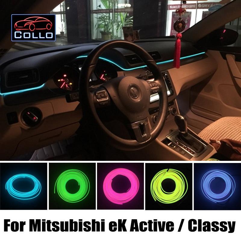 9 Meter A Set EL Wire For Mitsubishi eK Active / Classy / Custom / Space / Sport / Wagon / Car Interior Romantic Atmosphere Lamp купить mitsubishi cedia wagon москва
