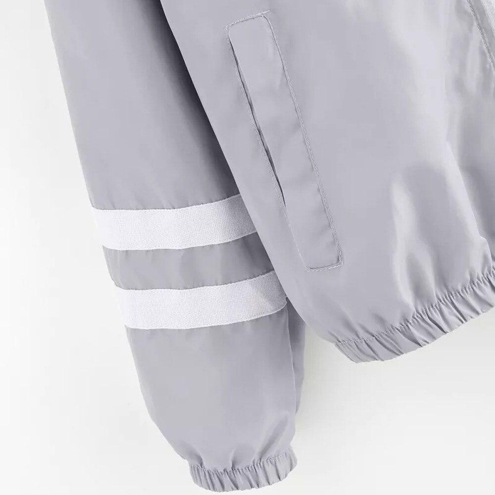 Patchwork Thin Skinsuits Hooded Jacket Women Long Sleeve Zipper Pockets Windbreaker Jacket 2019 Autumn Coat Sportswear W510