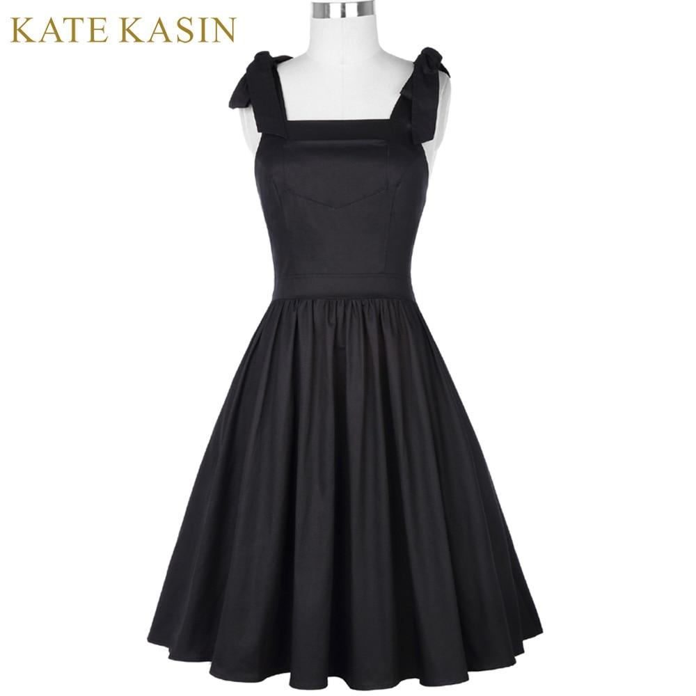 8f2e1890b Kate Kasin Sleeveless little Black Dress Short Prom Dresses 2018 Knee  Length Cross Back Formal Party Graduation Evening Dresses