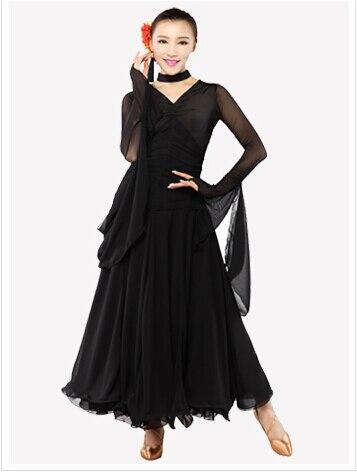 M-XL Black Red New Women Ballroom Dance Dress Lady Clothing For Tango waltz cha-cha Competition dress Modern Dance Skirt