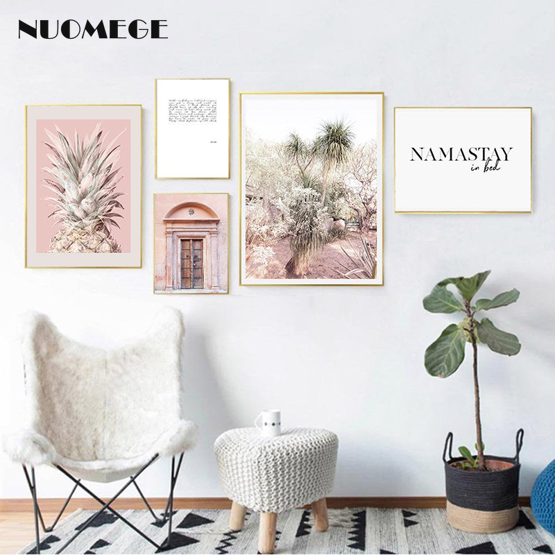 Tropical Plant Leaf Posters and Prints Pineapple Pictures Bedroom Decoration Wall Art Landscape Canvas Paintings Decorative