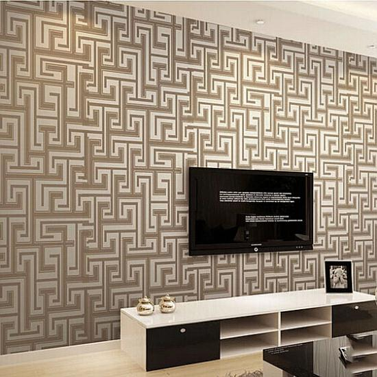 Modern Simple Designer Non Woven Wallpaper For Walls Roll Striped Motif  Textured Effect Living Room Bedroom ... Part 98