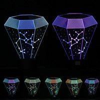 Novelty Luminaria 3D LED Sagittarius Night Light Touch 7 Color Change Table Lamps Bedroom Home Decor Child Kids Baby Toy Gifts