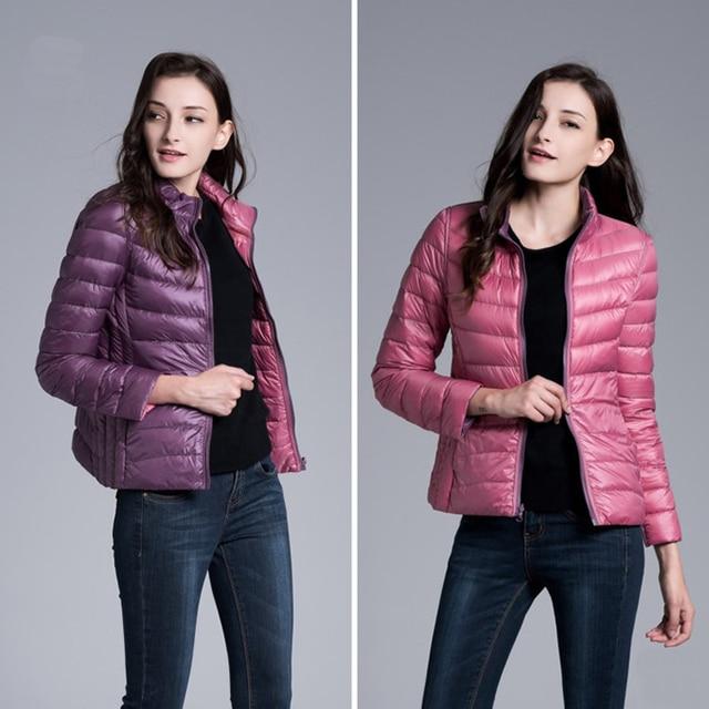 New 2016 Winter jacket Women Two Side 90% White Duck Down Jacket Women coat Ultra Light Down Jackets Warm Winter warm Parkas