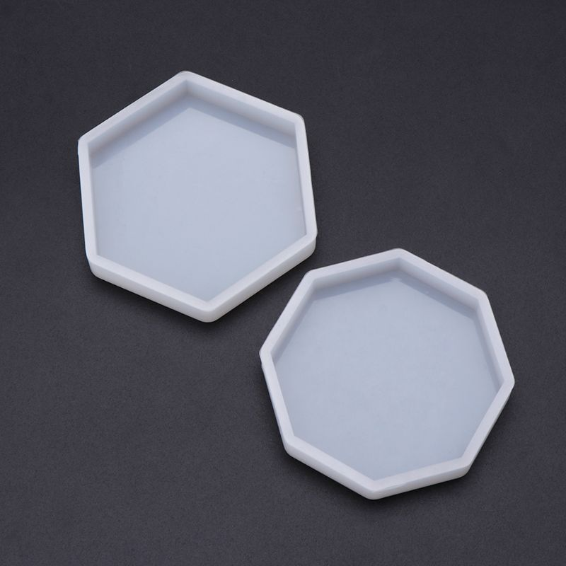 Silicone Mold Mirror DIY Epoxy Resin Crafts Jewelry Making Pendant Decoration Geometric Hexagonal Handmade Molds Ornaments