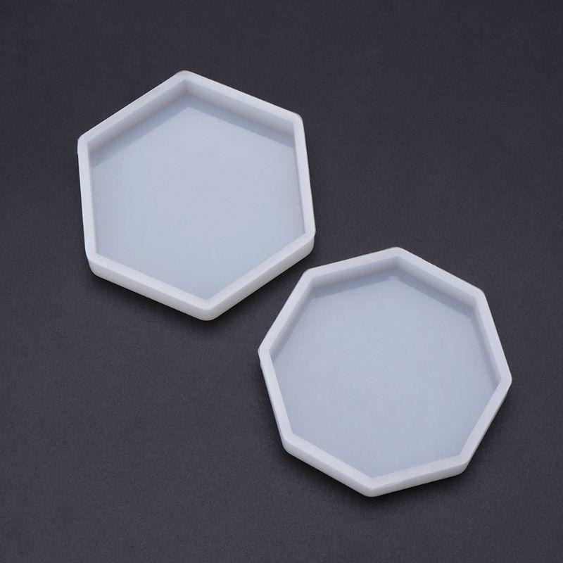 Silicone Mold Mirror DIY Epoxy Resin Crafts Jewelry Making Pendant Decoration Geometric Hexagonal Handmade Molds Ornaments