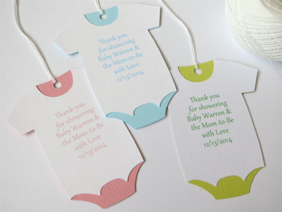 Personalized Baby Shower Thank You Favor Gift Wine Tags Baptism