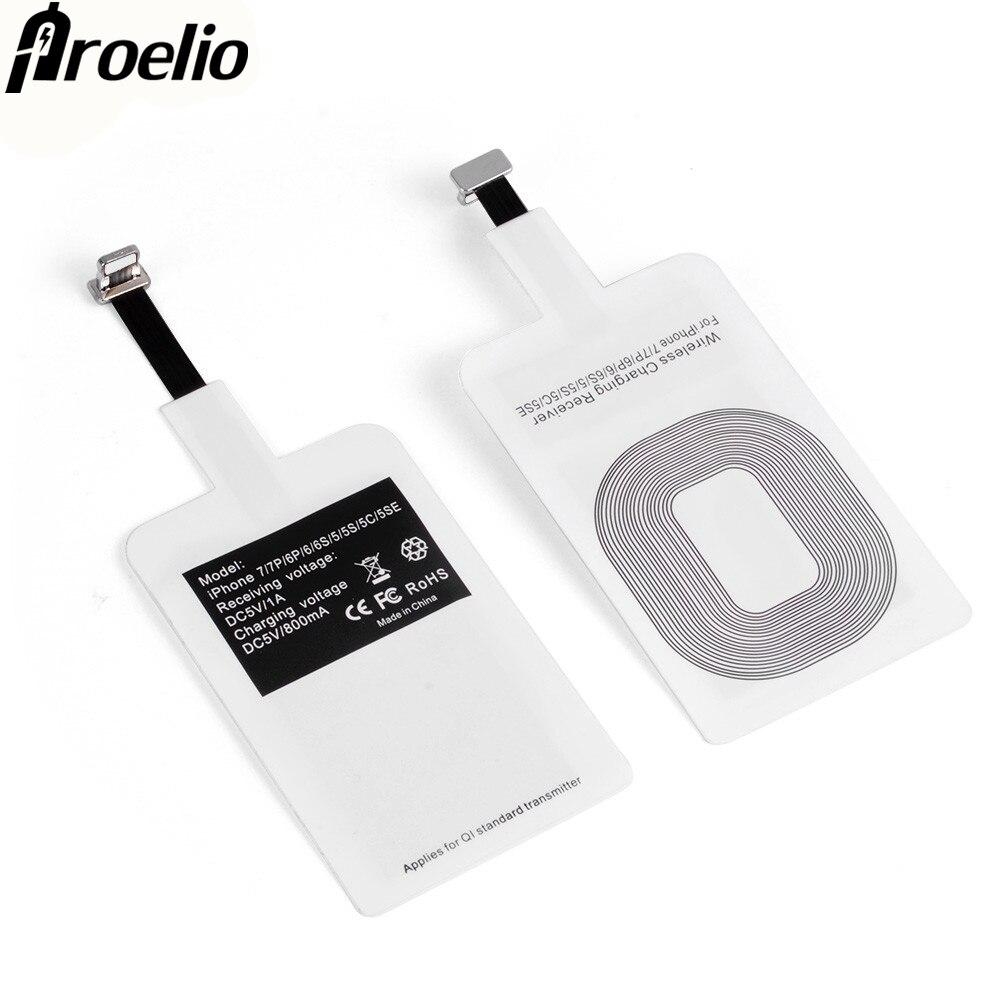 Proelio Универсальный Ци Беспроводной Зарядное устройство приемник для iPhone 5 5S 7 6 S 6 плюс Pad Android Micro Тип usb C Smart зарядки рецептор