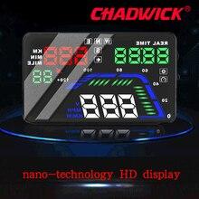 범용 멀티 컬러 자동차 자동차 HUD GPS 헤드 업 디스플레이 속도계 과속 경고 대시 보드 앞 유리 프로젝터 CHADWICK Q7