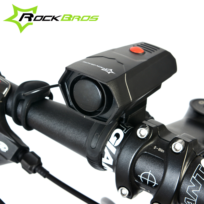 ROCKBROS Bicycle Bell Cycling Horns Electronic Bike Bicycle Handlebar Ring Bell Horn Strong Loud Air Alarm Bell Sound Bike Horn