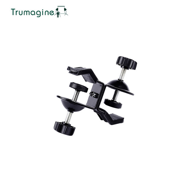 TRUMAGINE Double Heavy Duty U Clip C Clamp Twin For Photo Studio Light stand For Photography Studio Flash Shooting Accessories