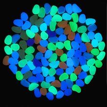200 PCS Jardim de Pedra Luminosa Brilham No Escuro Brilhante Rocha Seixo Para Jardim Passarelas Pátio Gramado Caminho Quintal Decor pedras luminosas