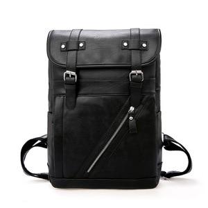 Image 5 - Travel Leather Backpack Men Waterproof Vintage Bag Large Capacity Back Pack Fashion Bagpack Laptop Backpacks Casual Bags For Men