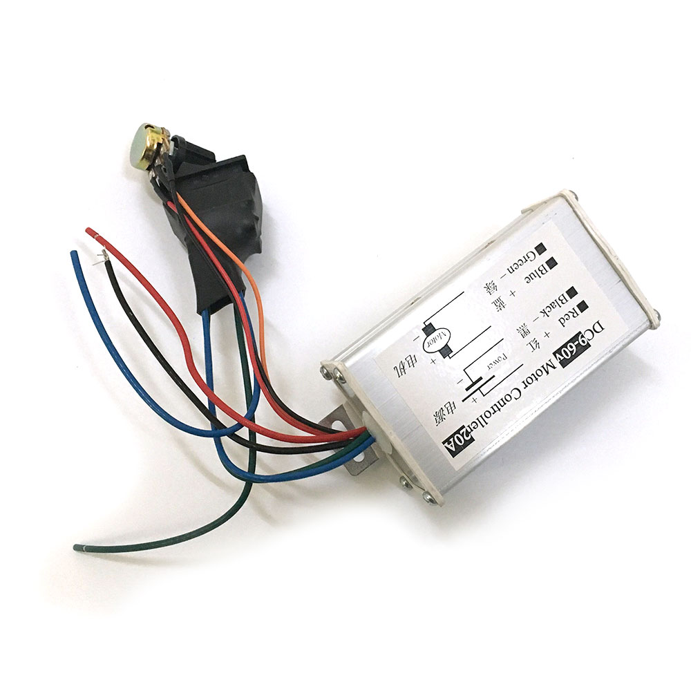 DC 9~60V 12V 18V 24V 36V 20A DC Motor Speed Controller CW CCW Reversible Switch