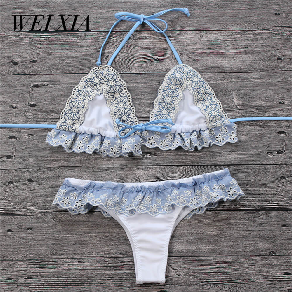 WEIXIA Sexy Beach Swimwear Brazilian 8626 Women Swimsuit Beautiful Brazilian Bikini Sets Sexy Attracting Swimwear Woman Bikini