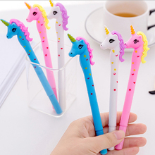 1 pcs Cartoon Spotted unicorn Gel Pen kawaii stationery School Supplies Office Cute writting pens paperlaria