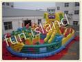 Modifique para requisitos particulares gigante casa salto inflable, castillo inflable combo