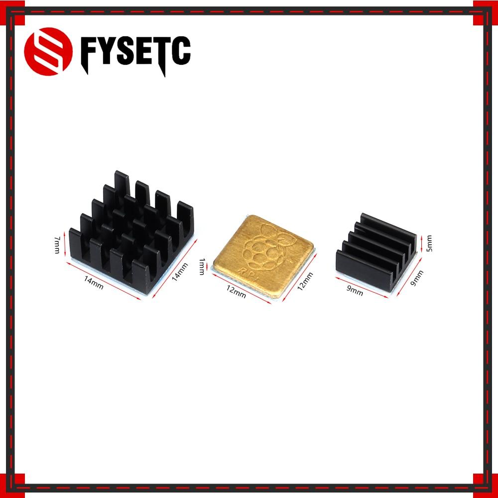 1Set 3D Printer Parts Heatsink Cooler Pure Aluminum Copper Heat Sink Set Kit Radiator For Raspberry Pi 3 Model B / B Plus