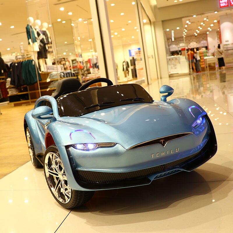 Abdo télécommande Automobile jouets voiture électrique enfant voiture électrique quatre roues Double entraînement jouet voiture rechargeable bébé peut s'asseoir sur - 5