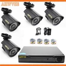 HKES 1080N HDMI DVR 1200TVL 720P HD Outdoor Home Security Camera System 4CH CCTV Video Surveillance DVR Kit AHD Camera Set