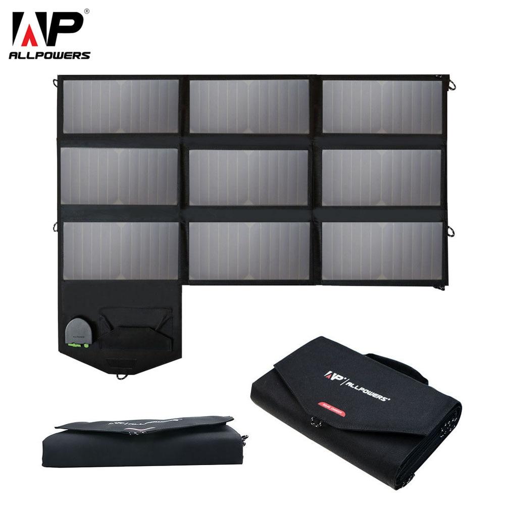 ALLPOWERS 60 Watt Handy-ladegerät 5 V 12 V 18 V Bewegliche Faltbare Solar Panel ladegerät Pack für iPhone 6 6 s 7 8 Plus Loptops Tabletten ect.