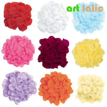 100pcs/bag Wedding Events Decoration Silk Rose Petals Table Artificial Flowers Engagement Celebrations Party Supplies