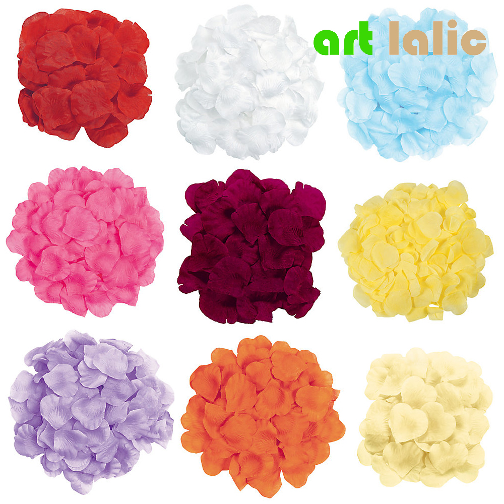 100pcs/bag Wedding Events Decoration Silk Rose Petals Table Artificial Flowers Engagement Celebrations Party Supplies