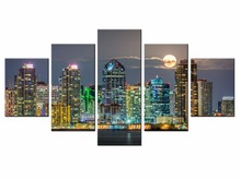 Hot Sales Framed 5 Panels Picture City series HD Canvas Print Painting Artwork Wall Art painting Wholesale/XC-City-162