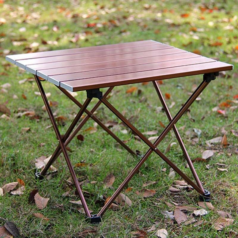 Dynamisch Outdoor Klapptisch Aluminiumlegierung Portable Picknick Camping Multifunktionale Schreibtisch Tisch Leichte Rollen Oben Computertisch Elegant Im Stil