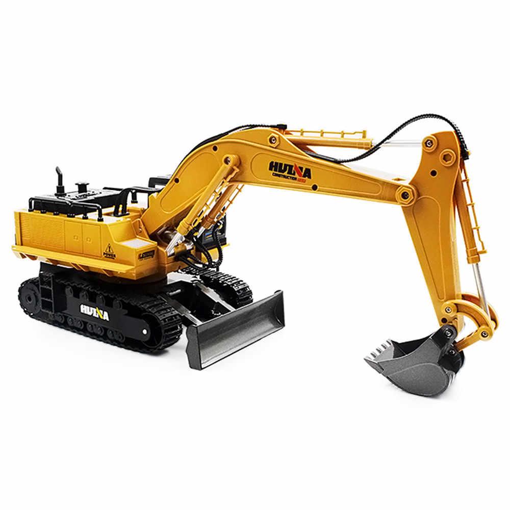 HUINA TOYS RC сплав экскаватор RTR 1510 1:16 2,4 GHz 11CH механический звук/вращение на 680 градусов/подвижная палка бум ведро