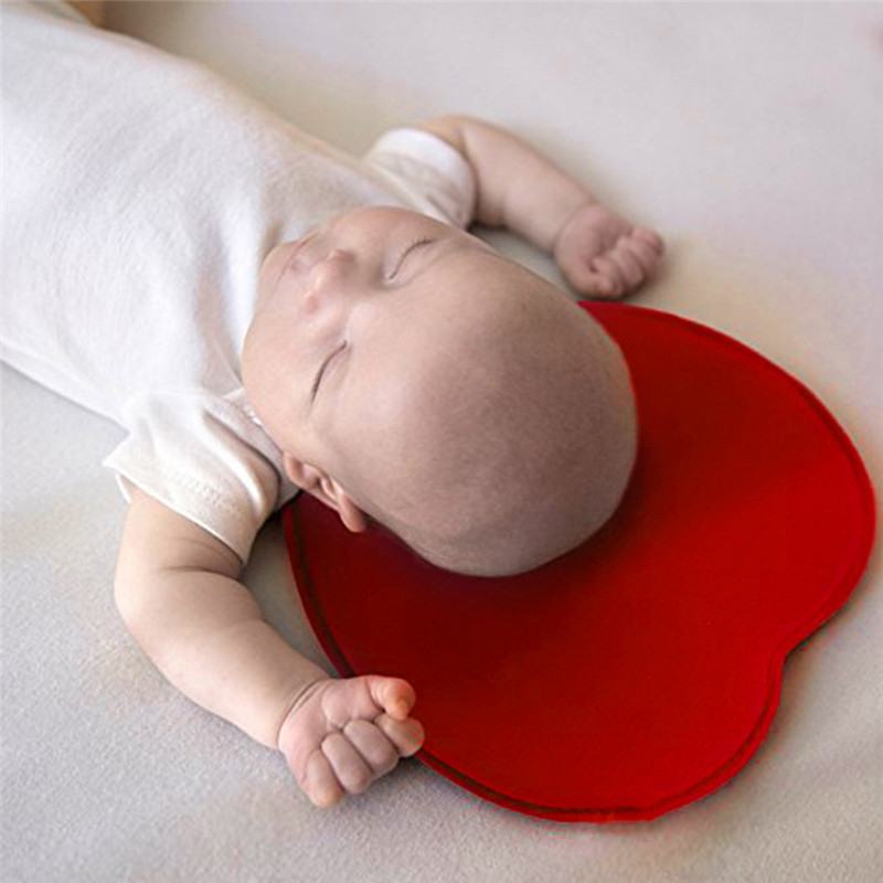 Newborns Baby Heart Shape Pillow Prevention Flat Head Syndrome Plagiocephaly Rectification Pillow For 0-18 Months Infants