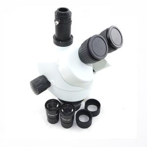 Image 2 - Schiff von Spanien 34MP Digital mikroskop kamera 3.5X 90X simul brenn Trinocular Stereo Mikroskop löten pcb telefon reparatur