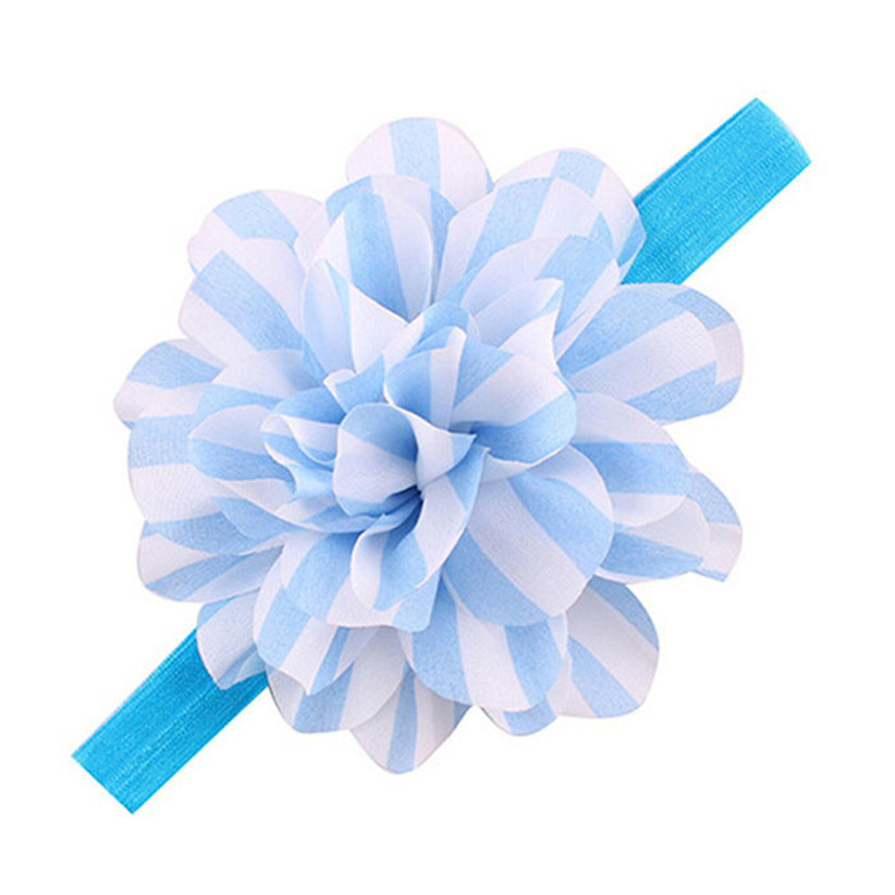 Newly Design Baby Girls Striped Big Flower Headbands Children Elastic Hair Accessories Oct9 Drop Shipping economic newly design 2 4mx1 2mx3cm cheap gymnastic mats