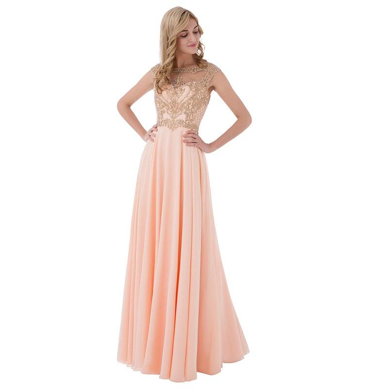 Sleeveless Chiffon Sheer Neck Illusion Back Long Bridesmaid Dress 7