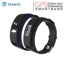 Teamyo трекер Smart Band GPS трекер часы с Pluse сердечного ритма барометр Температура Smart Браслет спорта на открытом воздухе