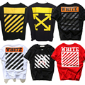 2017 CUT OFF WHITE with Real Tag 1:1 High Quality T Shirt Men Women Justin Bieber Brand Clothing Palace Fitness Hip Hop TShirt