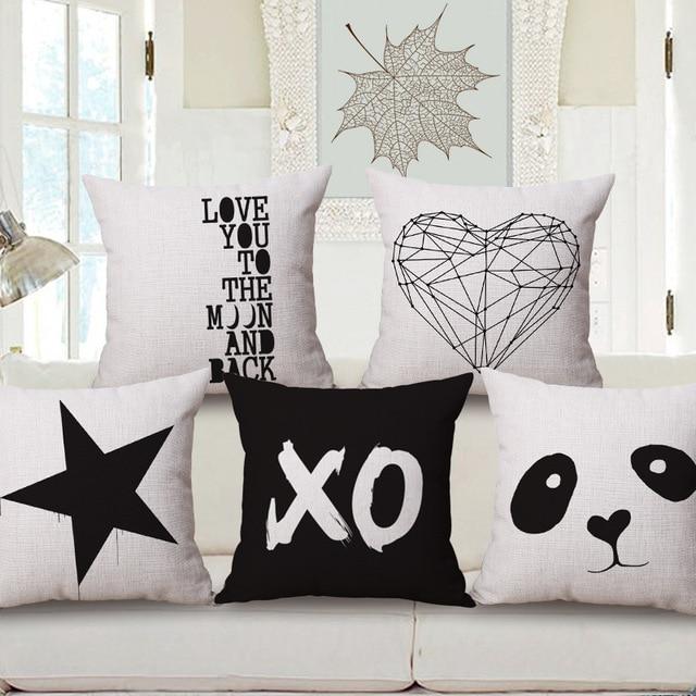 Love Heart Star Custom Cushion Covers Panda Throw Pillows Cases