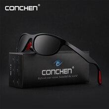 CONCHEN 2019 New Polarized Sunglasses For Men Women Rectangle Driving Male Sun Glasses  Sport Mens Protection Eyewear