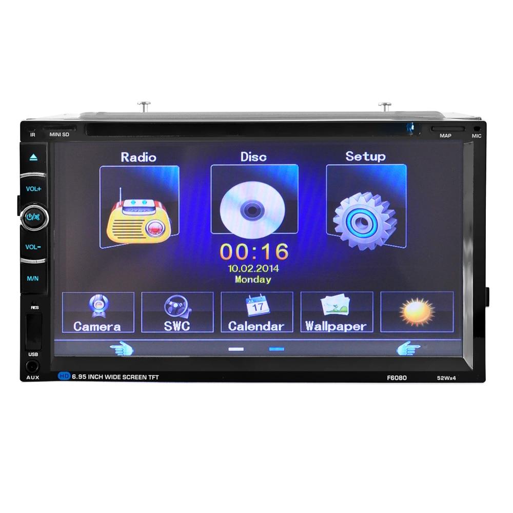 Lecteur dvd de voiture 2 DIN DVD de voiture/CD/MP3/mp5/usb/sd/lecteurs écran tactile Bluetooth hd après caméra de recul gratuit