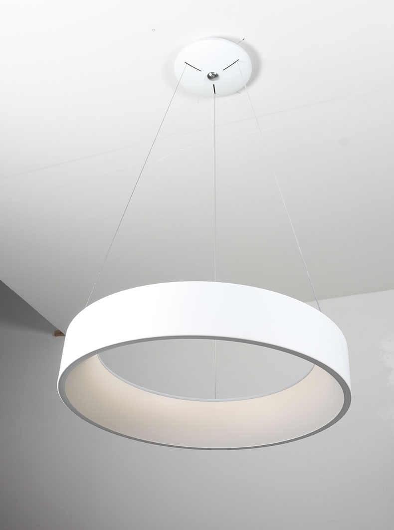 Hiện Đại Đèn LED Tròn Mặt Dây Chuyền Vòng Sáng Hình Tròn Mặt Dây Chuyền Đèn  Ốp Trần Treo Chiếu Sáng Cho Nhà Bếp Sống Phòng ăn Phòng Ngủ|