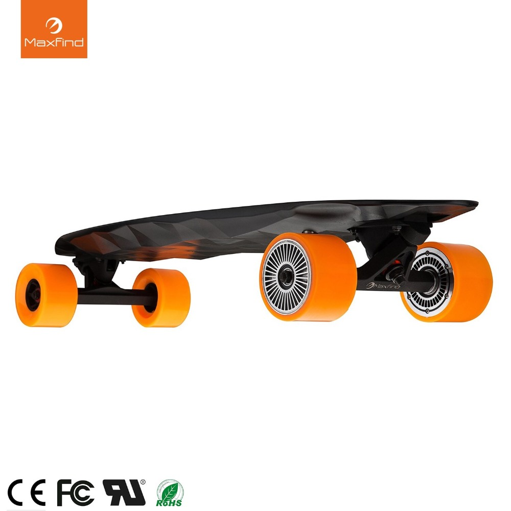Electric Skateboard Max 2, Wireless Remote Controller With COOL 4 Wheel Electric Skateboard Hoverboard цена