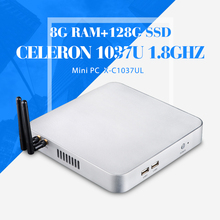 Mini Computer 2*RJ-45 C1037U 8G RAM 128G SSD wifi Desktop Thin Client Office Networking Mini Host Window 7 /8 /8.1/Linux/XP