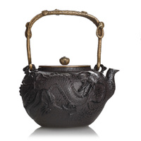 1.3L dragon tea kettle, Japanese traditonal fashion style iron teapot