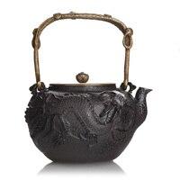 1.3L dragon tea kettle, Japanese traditonal fashion style iron teapot