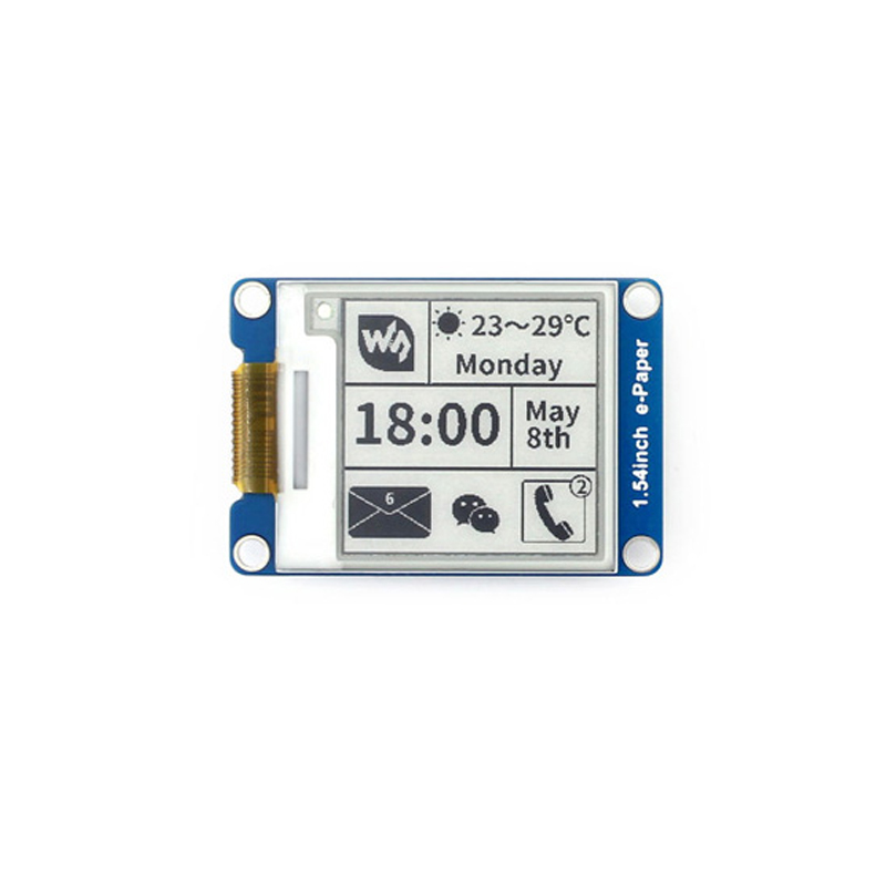 Waveshare 1.54inch E-Ink Display Black/white E-paper 200x200 Resolution SPI Interface For Raspberry Pi Support Partial Refresh