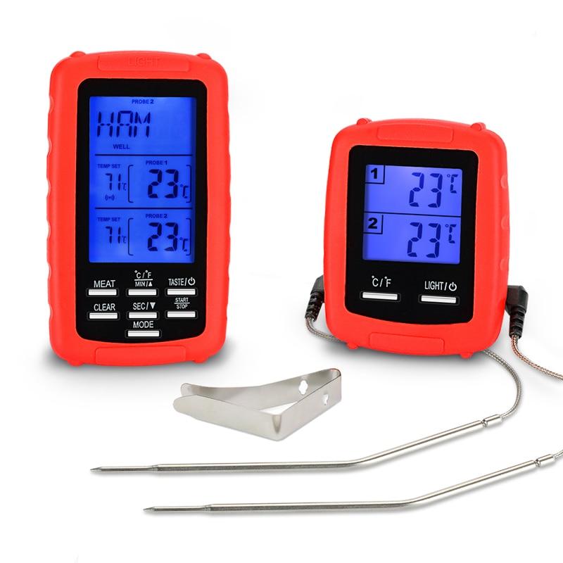 EAAGD Sans Fil À Distance Numérique Cuisson thermomètre à viande avec Double Sonde pour la Cuisine four barbecue Food Surveillance dans 70 M